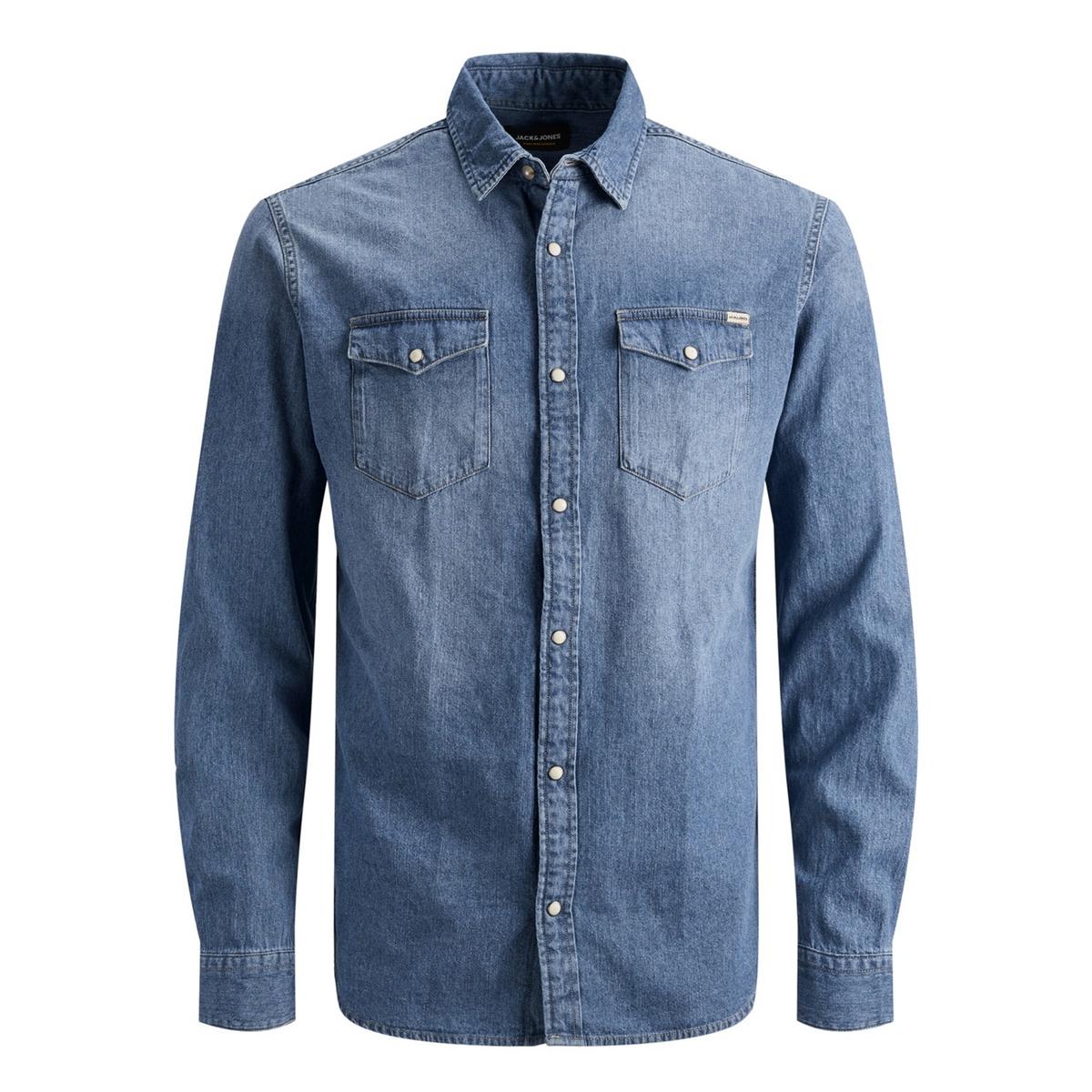 Рубашка LaRedoute Джинсовая узкая Jjesheridan S синий