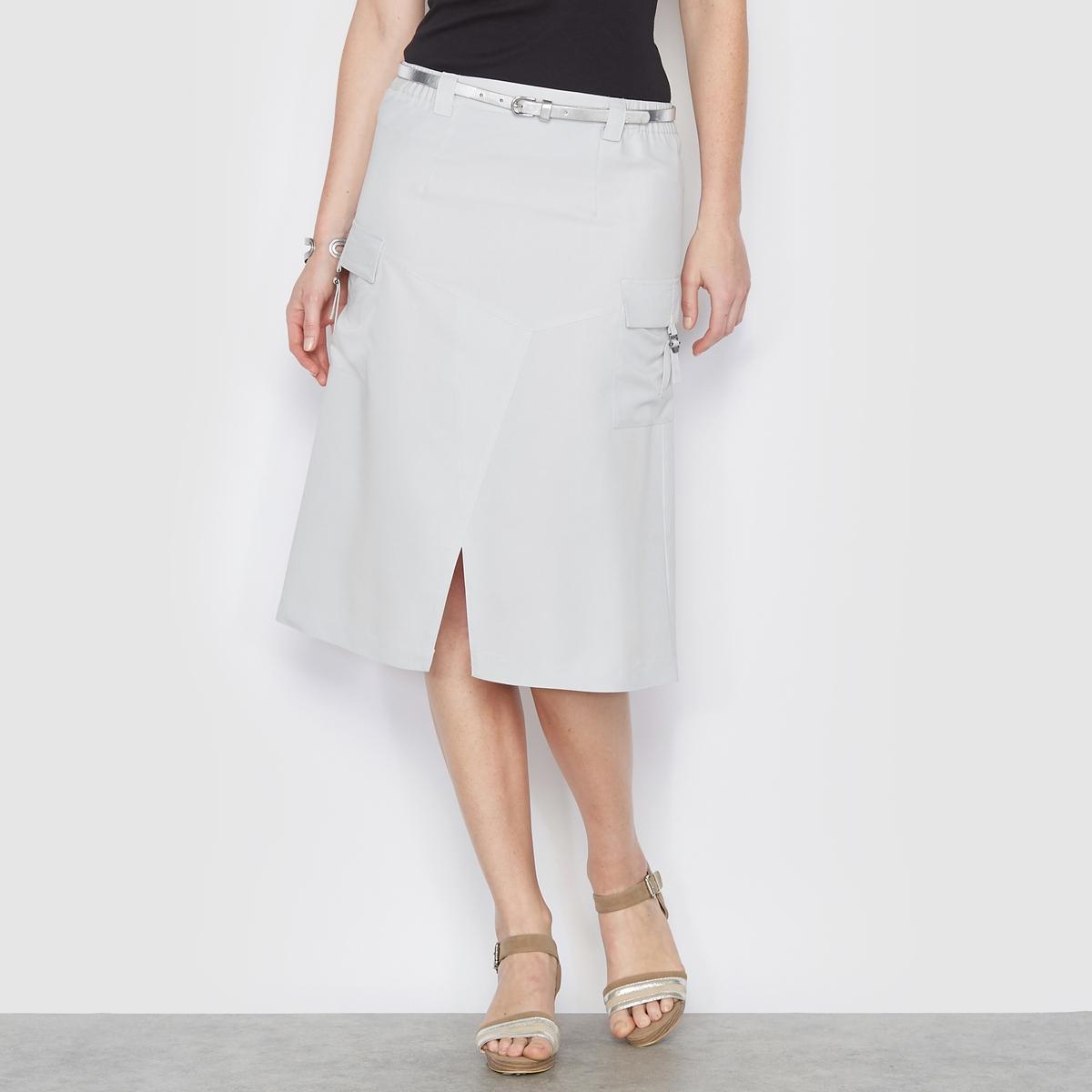Юбка из бархатистой микрофибрыКомфортная и элегантная юбка из мягкой бархатистой микрофибры. Нежный материал и безупречный фасон. Элегантность, комфорт и лёгкость в уходе делают эту юбку такой привлекательной.<br><br>Цвет: индиго,серый жемчужный<br>Размер: 44 (FR) - 50 (RUS).50 (FR) - 56 (RUS).50 (FR) - 56 (RUS).52 (FR) - 58 (RUS)