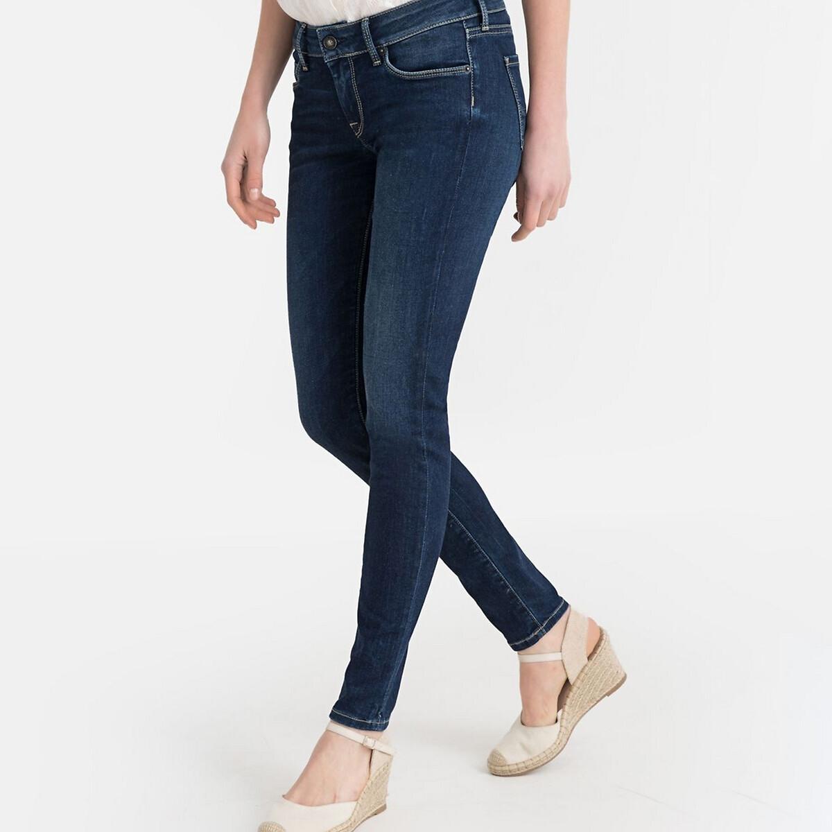 Фото - Джинсы LaRedoute Скинни 25/32 синий джинсы laredoute скинни длина 30 s черный