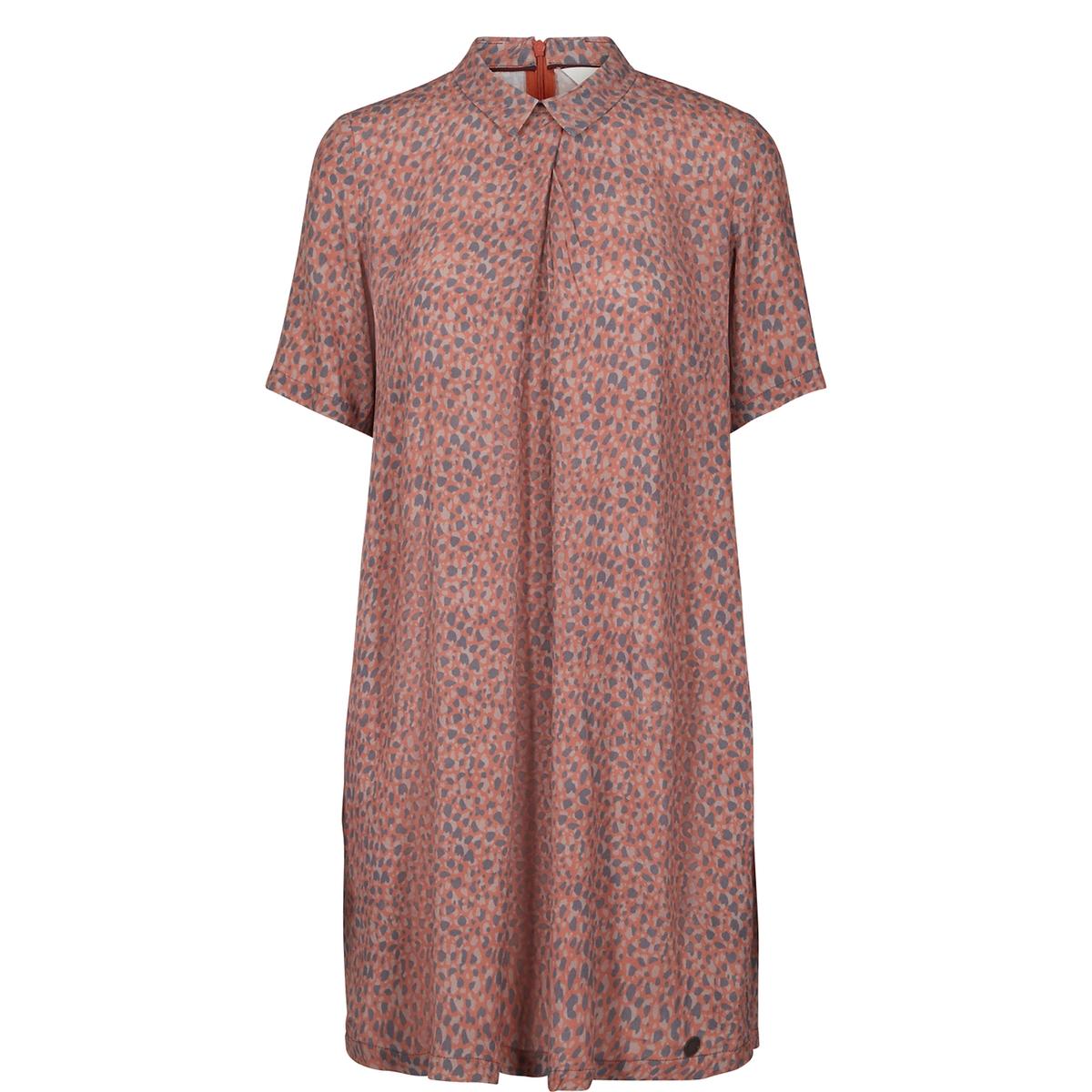 где купить Платье с леопардовым рисунком и короткими рукавами по лучшей цене