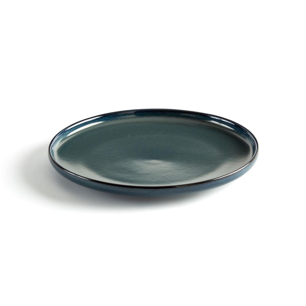 Akira Enamelled Stoneware Dessert Plates (Set of 4)