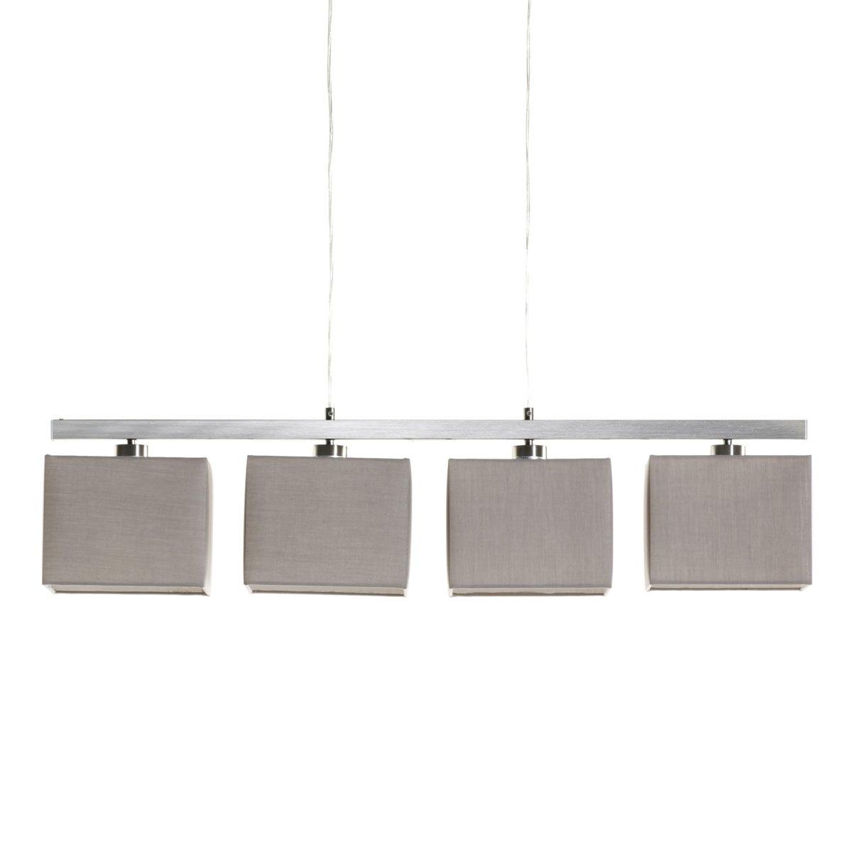 Светильник с 4 абажурами, SioОписание Sio :электрифицированный 4 патрона E27 для лампочки макс 40W (не входят в комплект)  .Регулировка по высоте с помощью 2 прозрачных тросиков .Светильник Sio совместим с лампочками    энергетического класса   : A-B-C-D     Характеристики Sio :Рейка и цоколь плафона из алюминия .        Всю коллекцию светильников вы можете найти на сайте laredoute.ru.        Размеры Sio :Общие размеры : Ширина : 91 смГлубина : 20 смМаксимальная регулируемая высота: 100 см .Абажур  : Ширина : 20 смВысота : 20 см.<br><br>Цвет: темно-серо-каштановый светлый