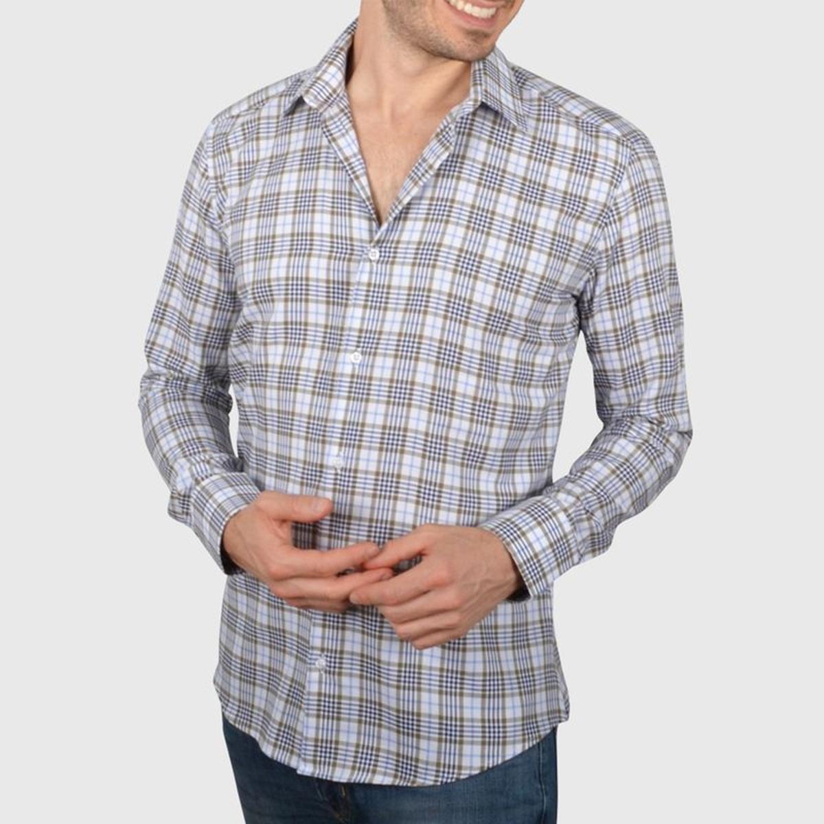 Chemise cintrée à carreaux
