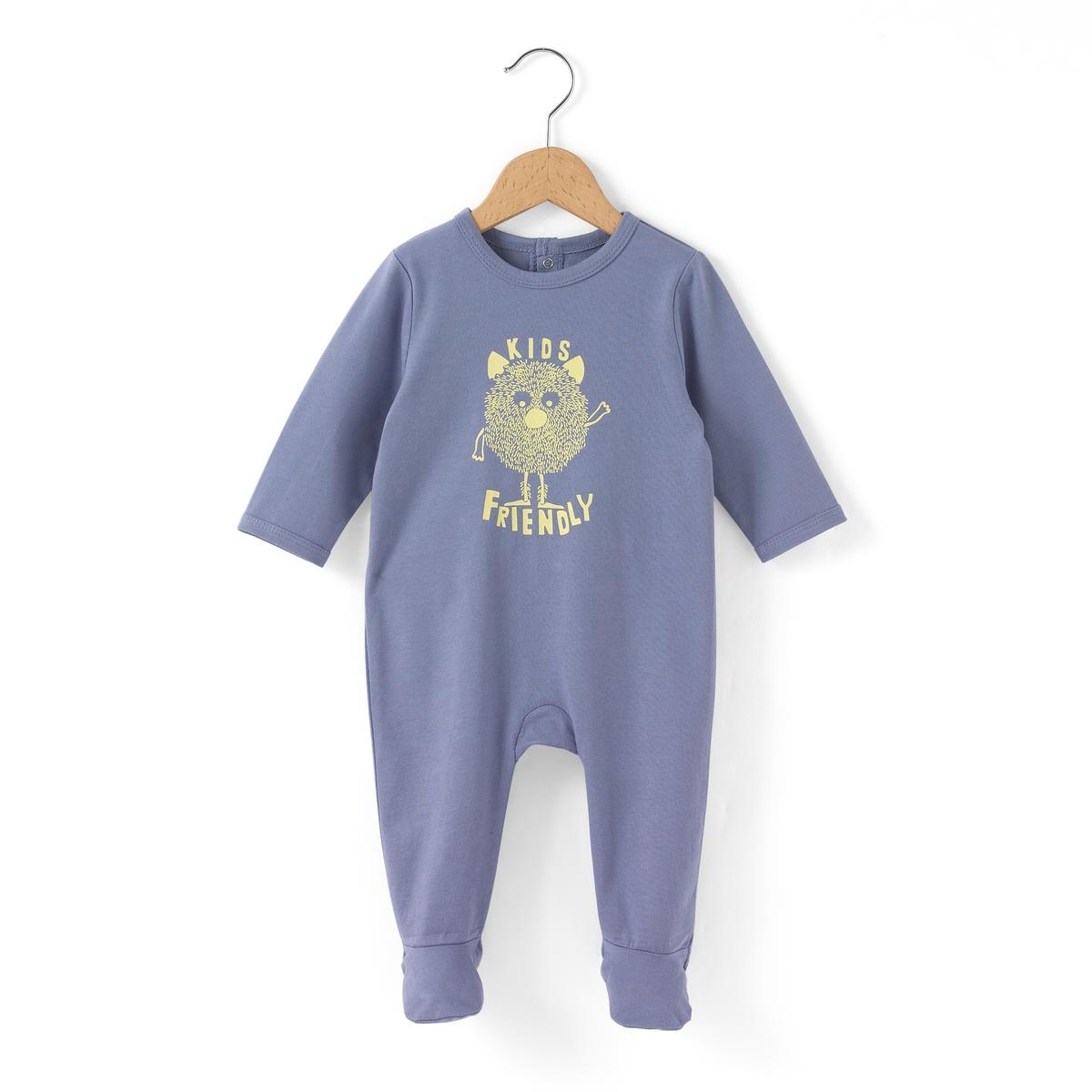 Пижама из хлопка с рисунком милое чудище 0 мес-3 лет
