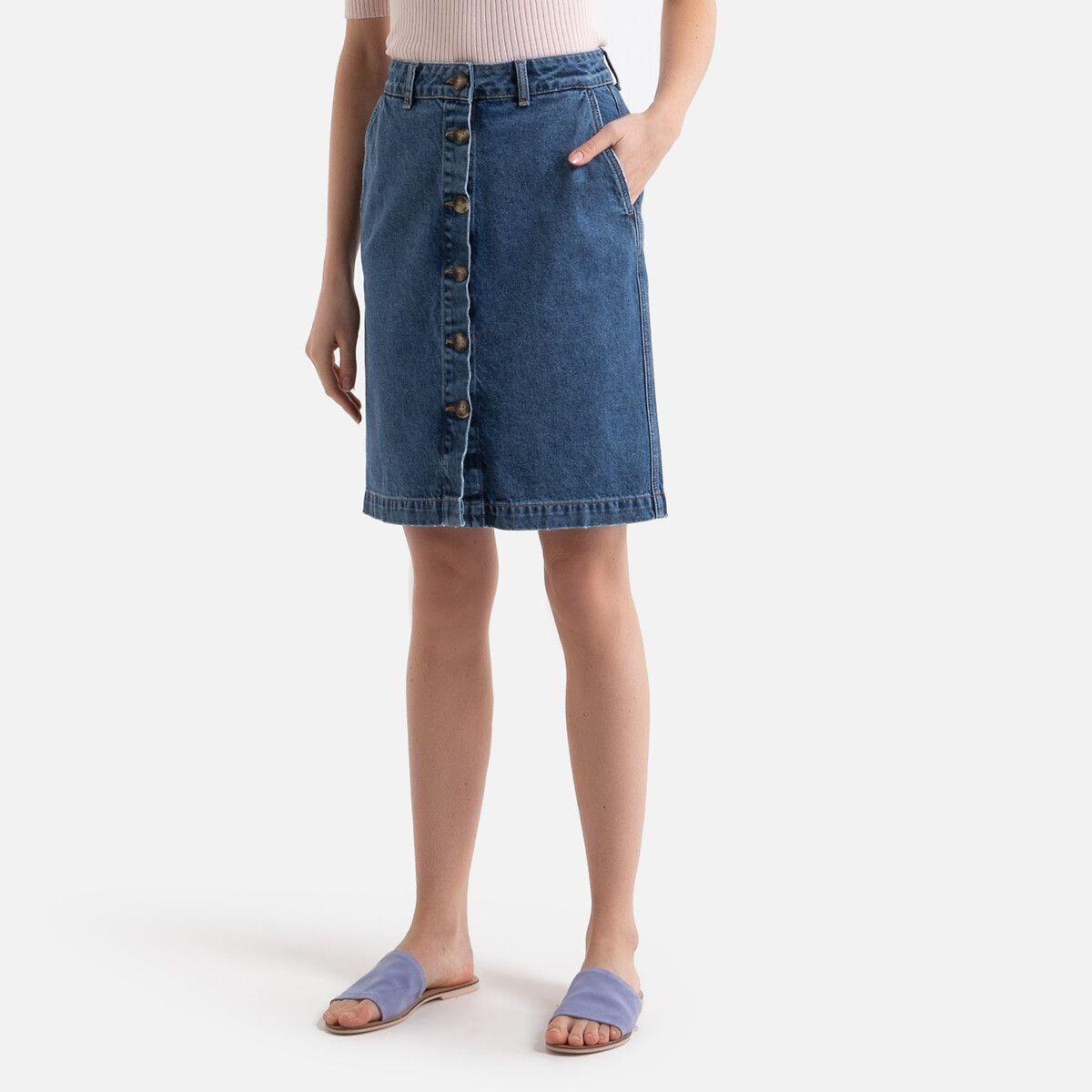 Jupe droite en jean