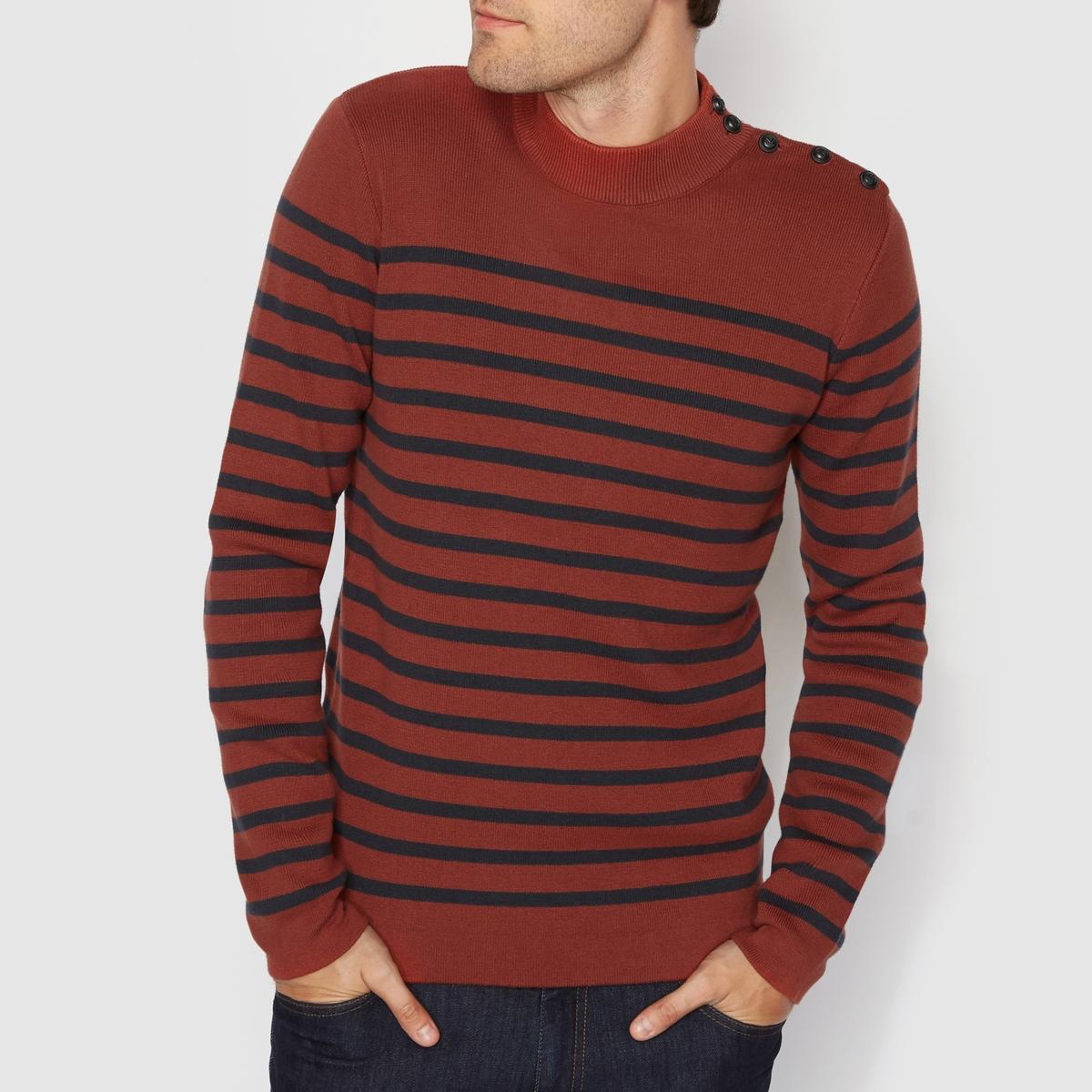 Пуловер с круглым вырезом 100% хлопкаСостав и описание :Материал : 100% хлопкаМарка : R Essentiel.Уход :Следуйте рекомендациям по уходу, указанным на этикетке изделия.<br><br>Цвет: кирпичный