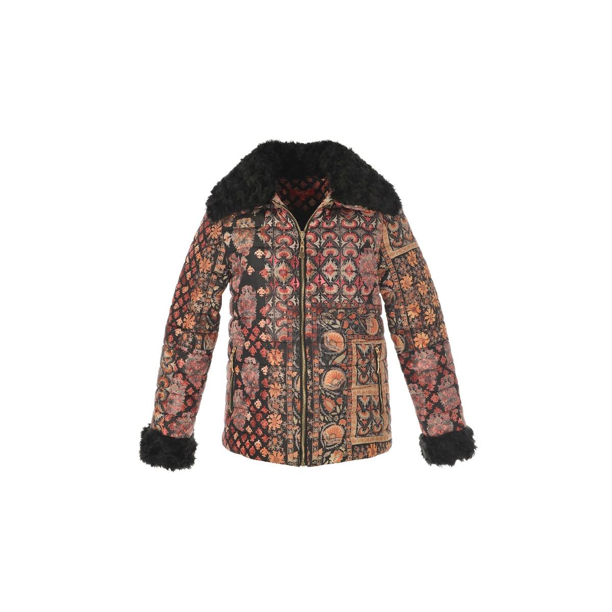 Куртка стеганая короткая с рисунком