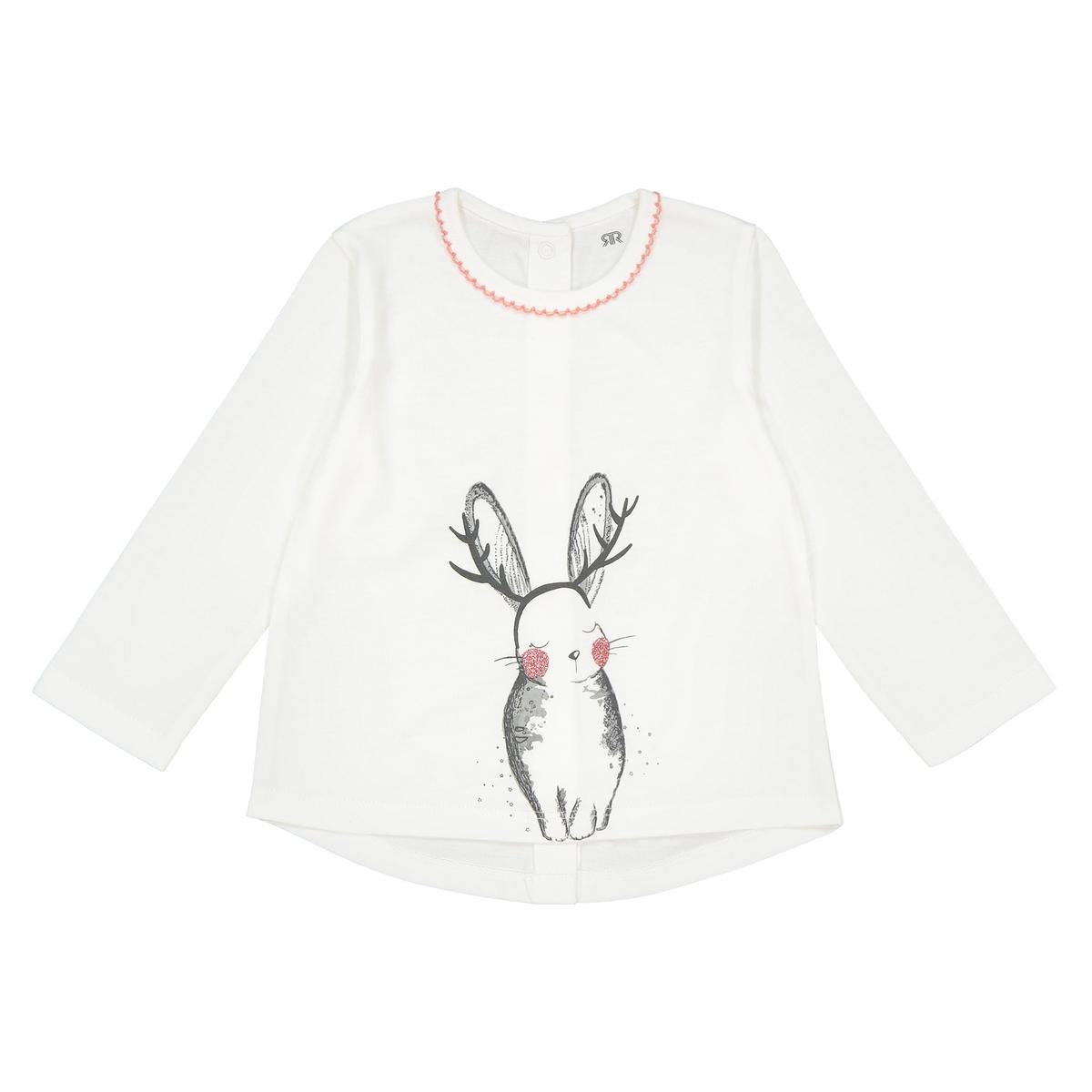T-shirt maniche lunghe coniglio 0 mesi - 3 anni