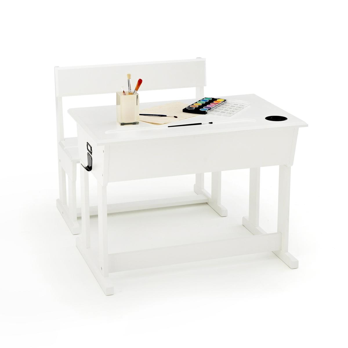 Стол-парта La Redoute школьный стул Toudou единый размер белый