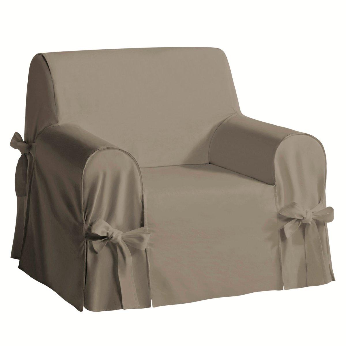 Чехол LaRedoute Для кресла из льна и хлопка JIMI единый размер каштановый