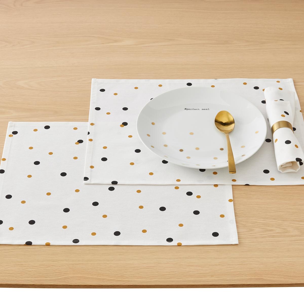 Подложка LaRedoute Под столовые приборы с принтом PERFECT TI единый размер белый