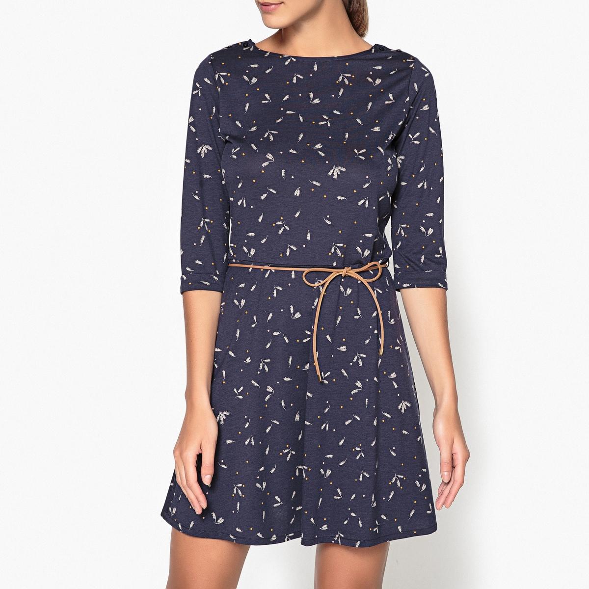 Платье с рисунком и рукавами 3/4 SELINA sessun юбка длиной 3 4