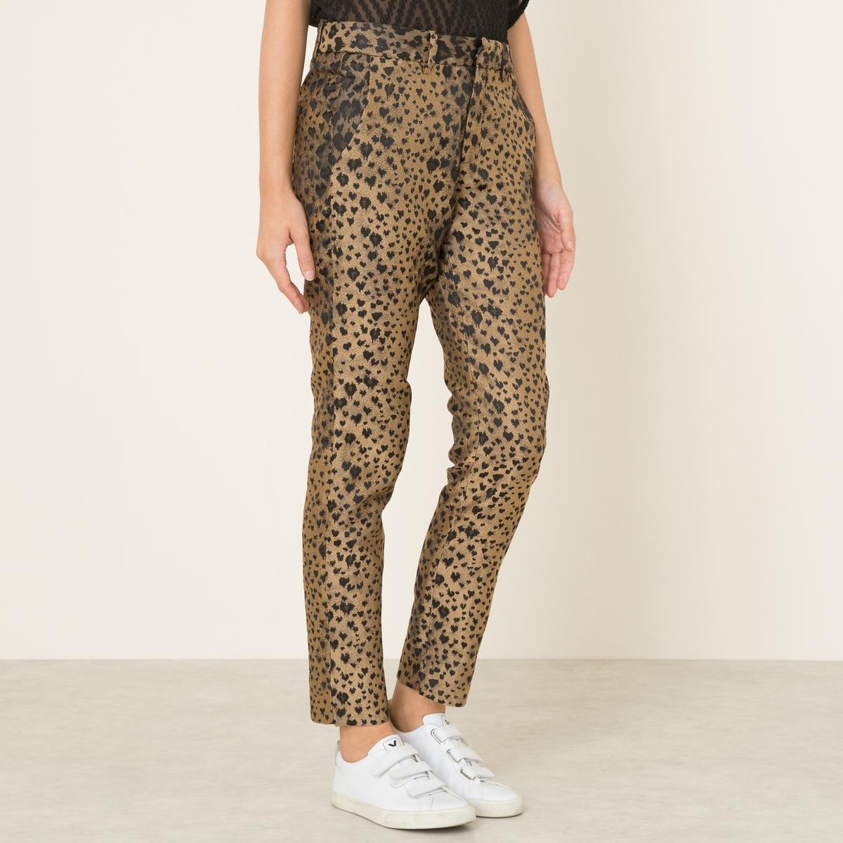Брюки с леопардовым рисункомСостав и описание    Материал : 100% полиэстер   Длина : по внутр. шву ок. 73 см. (для размера 36)   Ширина по низу ок.15 см.   Костюмы : брюки сочетаются с леопардовым жакетомМарка : SISTER JANE<br><br>Цвет: леопардовый рисунок