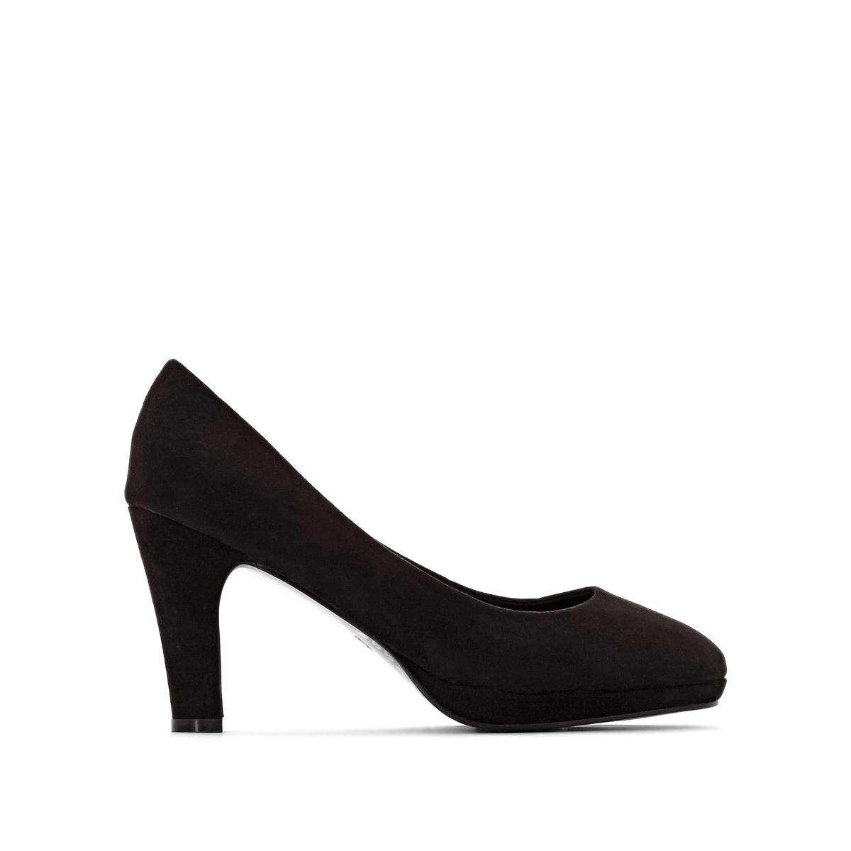 Туфли La Redoute На платформе на широкую стопу размеры - 41 черный сапоги la redoute в байкерском стиле на широкую стопу 38 черный