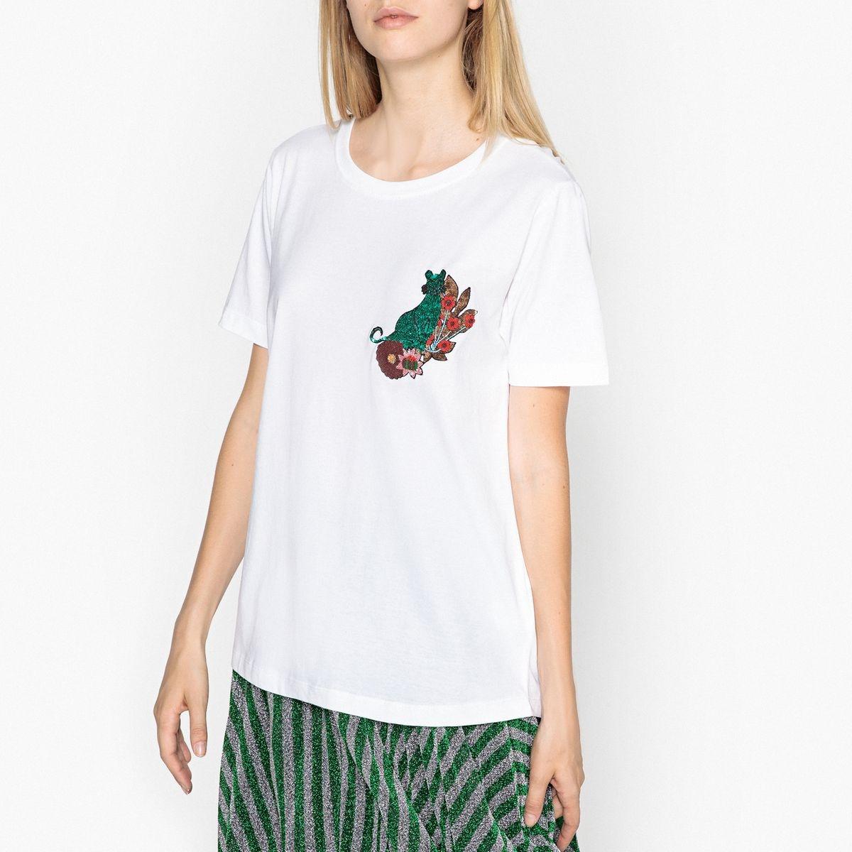 T-shirt col rond motif placé RIGO