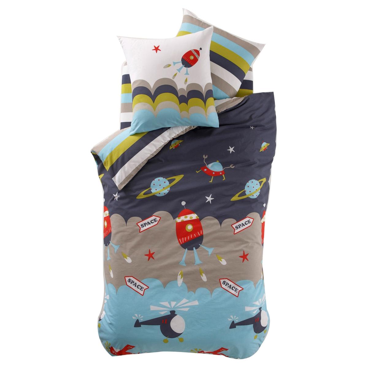 Kinder-Bettbezug ALAN | Kinderzimmer > Kinderbetten | Blau | Baumwolle | La Redoute Interieurs