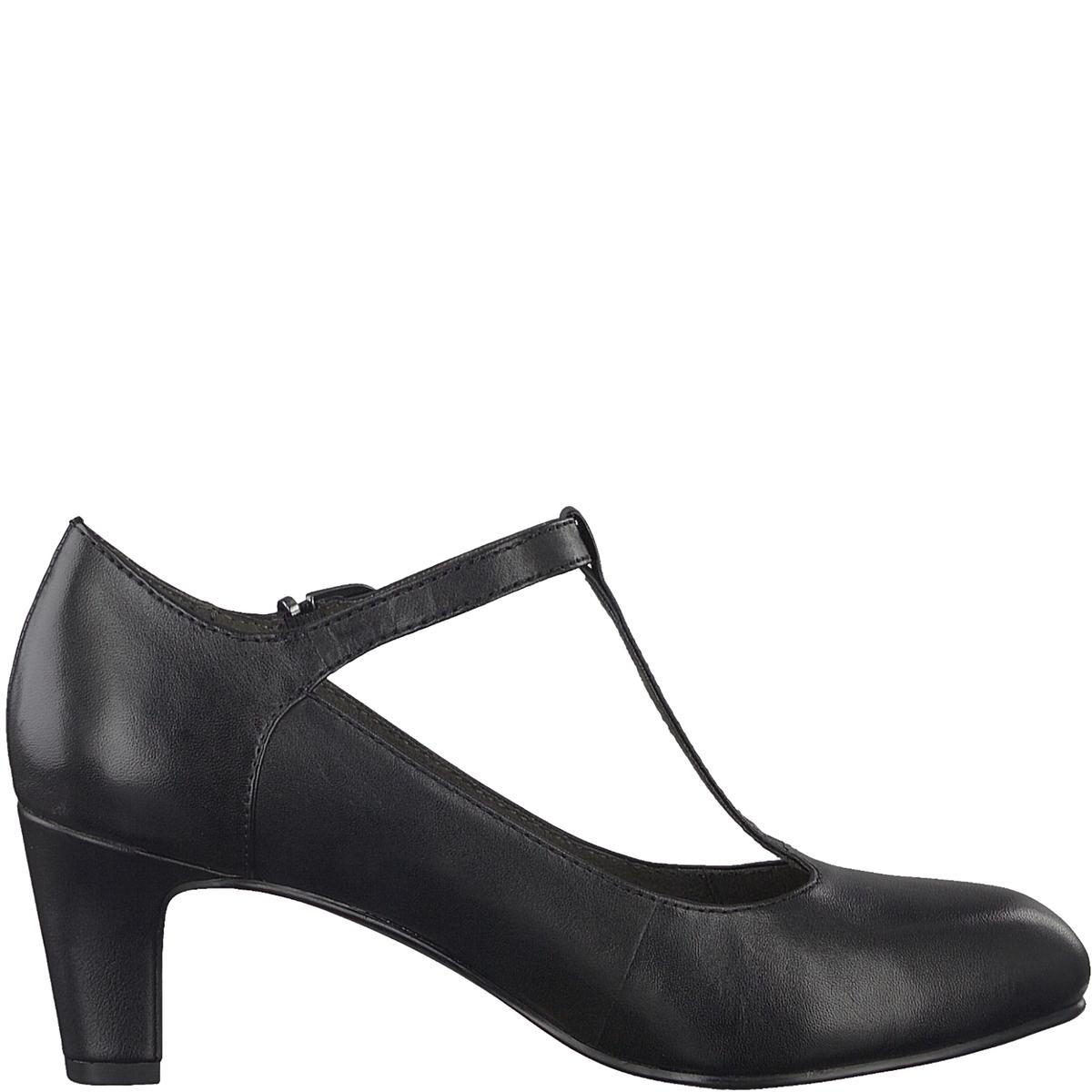 Туфли кожаные CaxiasДетали •  Широкий каблук •  Высота каблука : 6 см •  Застежка : без застежки •  Круглый мысокСостав и уход •  Верх 100% кожа •  Подкладка 50% синтетического материала, 50% текстиля •  Стелька 100% синтетический материал<br><br>Цвет: черный<br>Размер: 37