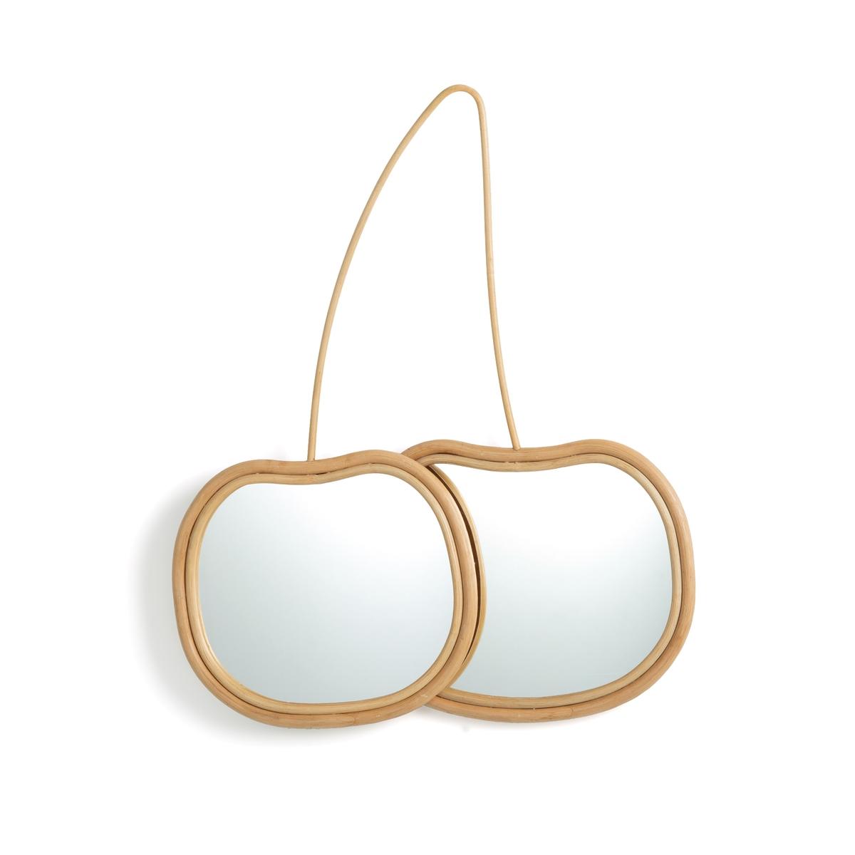 Зеркало La Redoute В форме вишни из ротанга В см Lezy единый размер бежевый зеркало la redoute из ротанга в форме яблока nogu единый размер бежевый