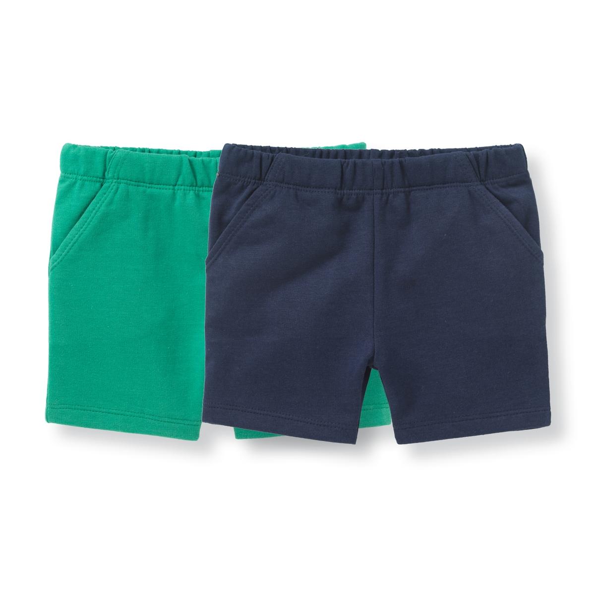 Комплект из 2 шорт из мольтона, 1 мес. - 3 года брюки спортивные из мольтона 1 мес 3 года