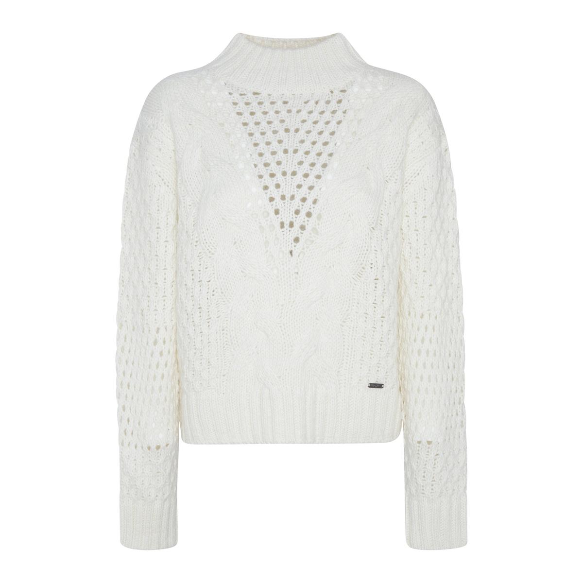 Пуловер La Redoute С воротником-стойка из плотного ажурного трикотажа L бежевый стойка yamaha l 2c