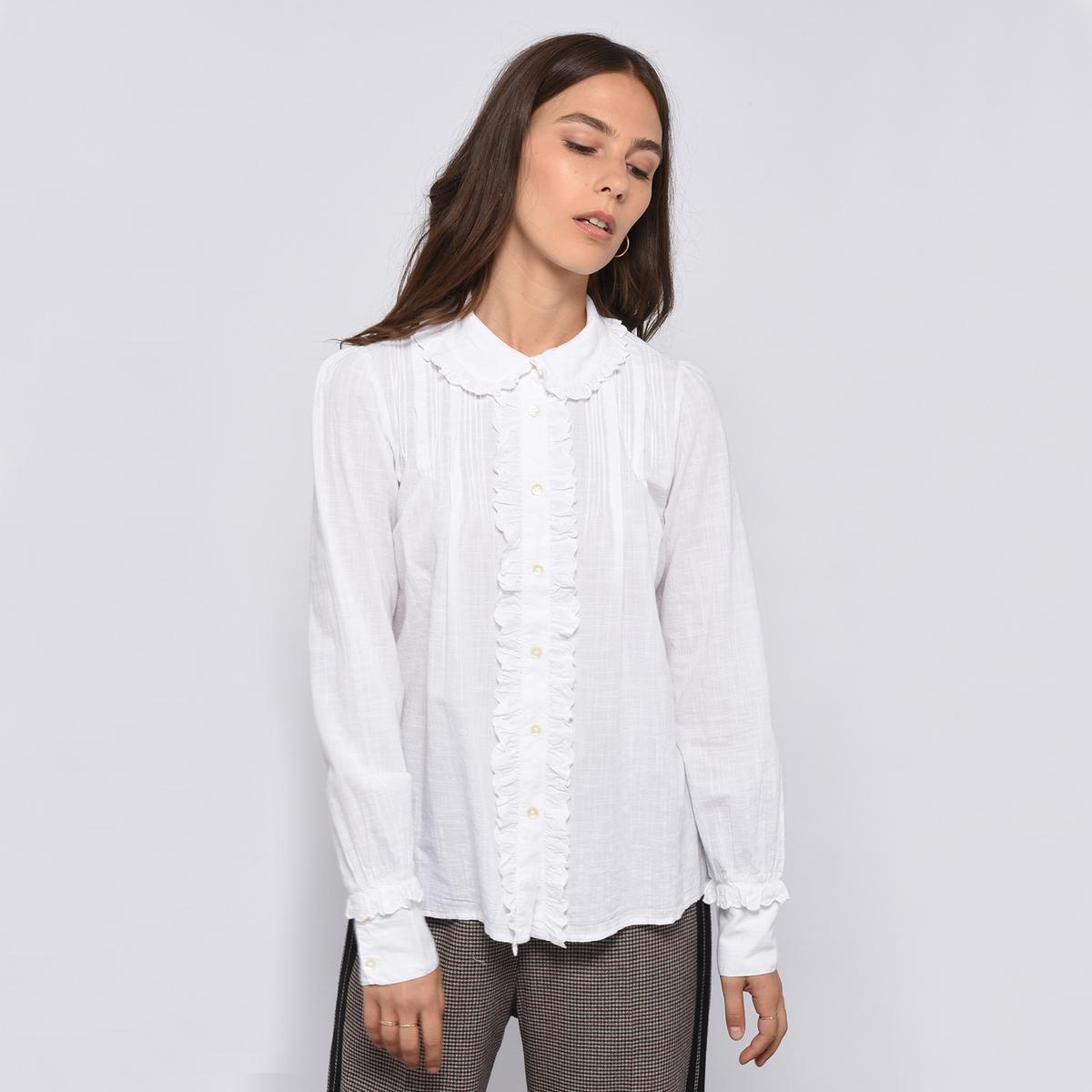 Блузка с воланами и длинными рукавами CLIC