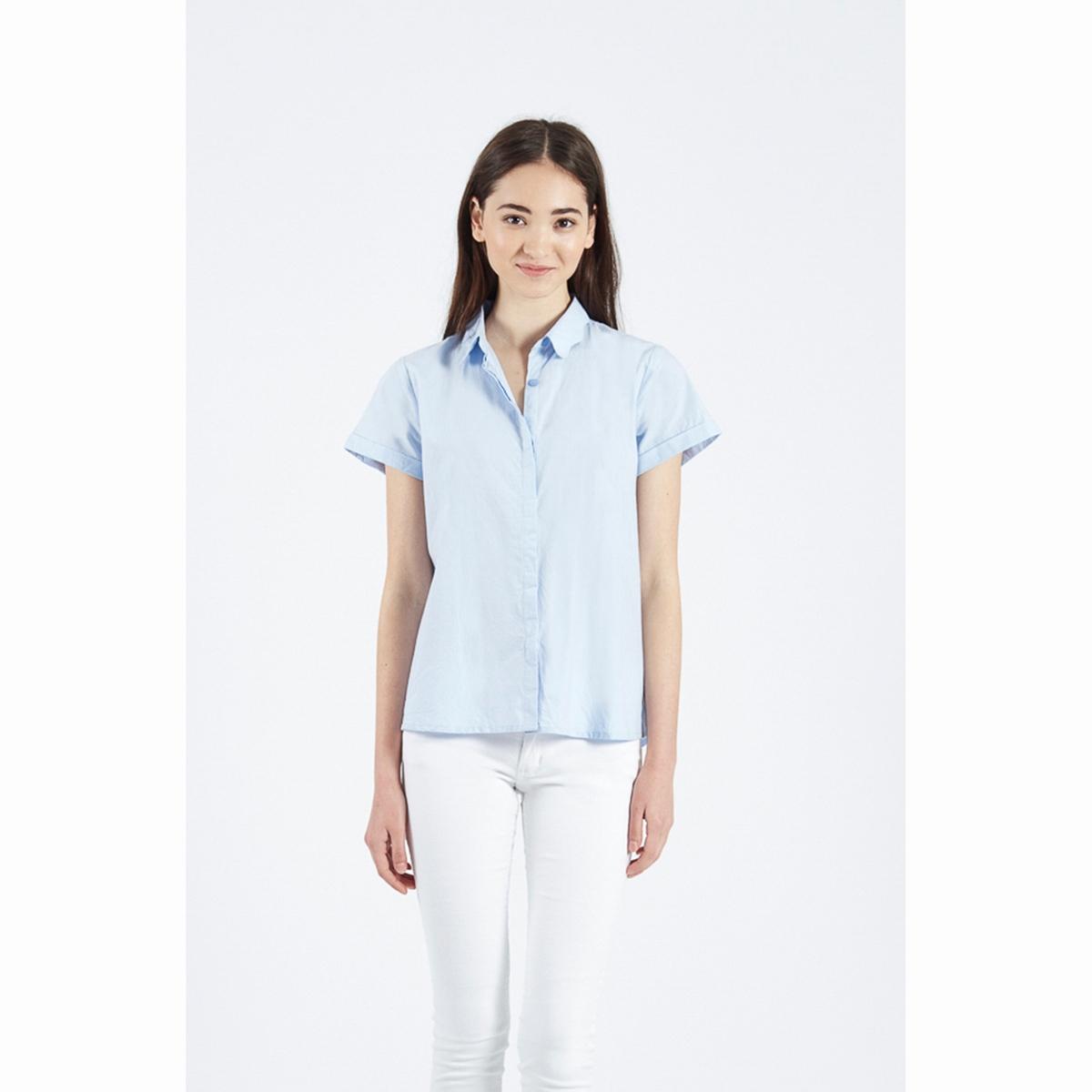 Рубашка Azul PollyРубашка Azul Polly из 100% хлопка. Рубашечный воротник с волнистыми краями. Короткие рукава с отворотами. Супатная застежка на пуговицы спереди . Состав и описаниеМатериалы : 100% хлопокМарка : Compania FantasticaМодель : Camisa Azul PollyУходСледуйте рекомендациям по уходу, указанным на ярлыке изделия<br><br>Цвет: голубой<br>Размер: S.M