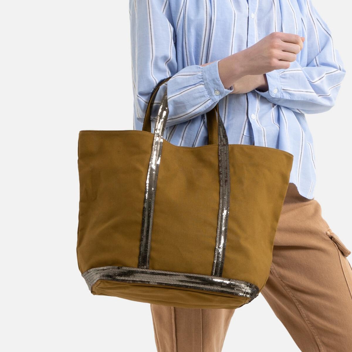 Фото - Сумка-шоппер La Redoute Из ткани с блестками единый размер зеленый сумка шоппер средняя из парусины с блестками