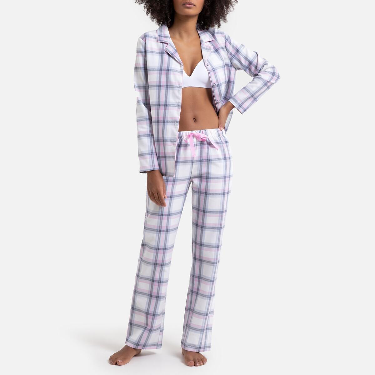 Pijama a cuadros 100% algodón