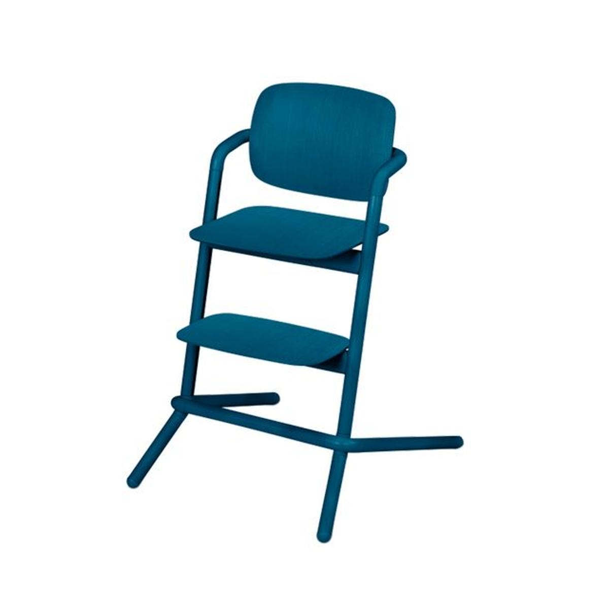 Chaise haute bois Lemo twilight blue