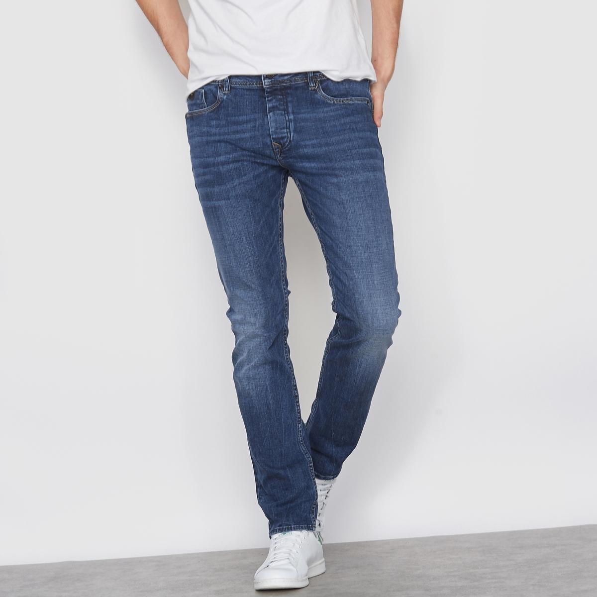 Джинсы прямыеПрямые обтягивающие джинсы из денима с 5 карманами, KAPORAL. Застежка на болты. Пояс со шлевками. Нашивка сзади и логотип Kaporal. Оригинальная прострочка на карманах. Состав и описаниеМатериал : 99% хлопка, 1% эластанаМарка : KAPORAL<br><br>Цвет: синий деним<br>Размер: 30 (US) - 30 (US)