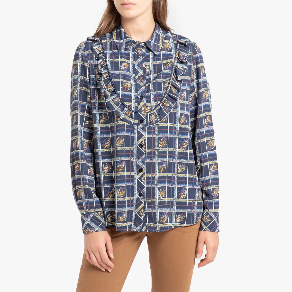 Рубашка La Redoute С принтом и длинными рукавами с воланом PALMA 42 (FR) - 48 (RUS) другие go starters class cd