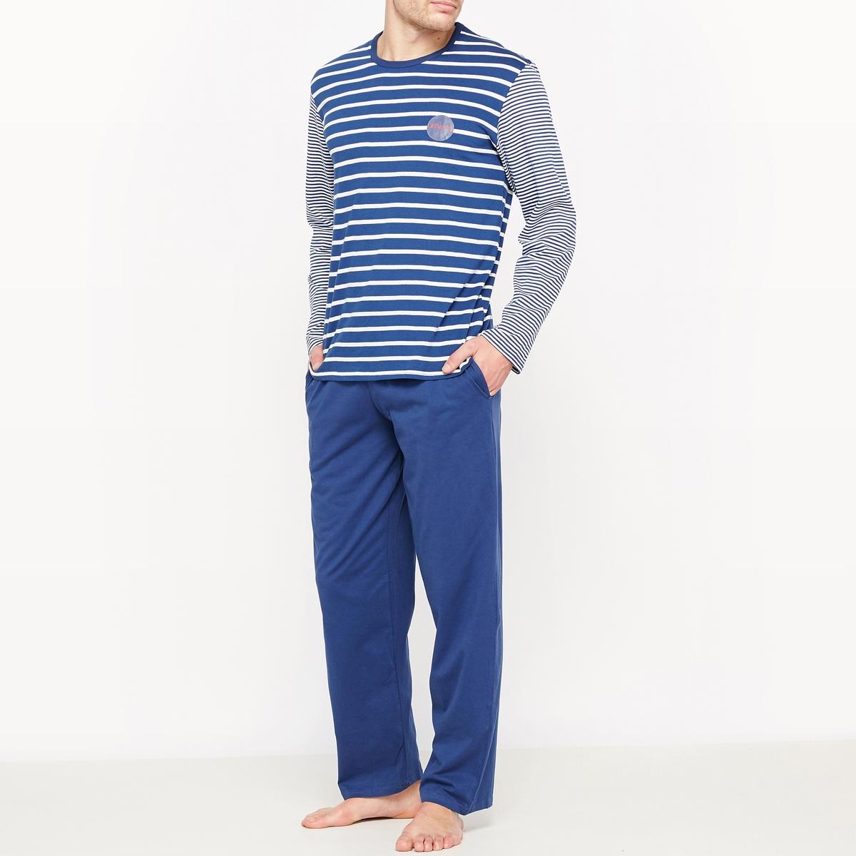 Пижама из 100% хлопка в полоску