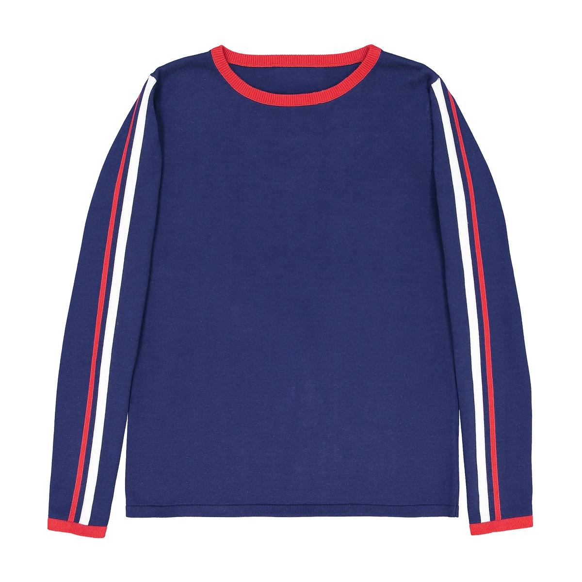 Пуловер хлопковый с графичным рисунком