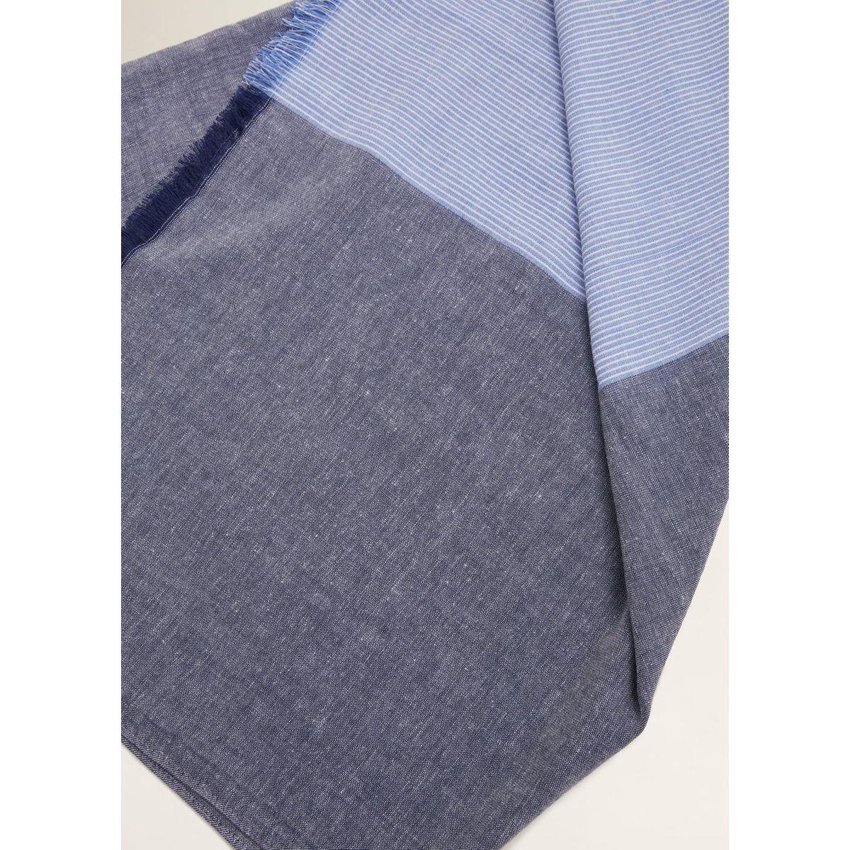 Foulard bicolore franges