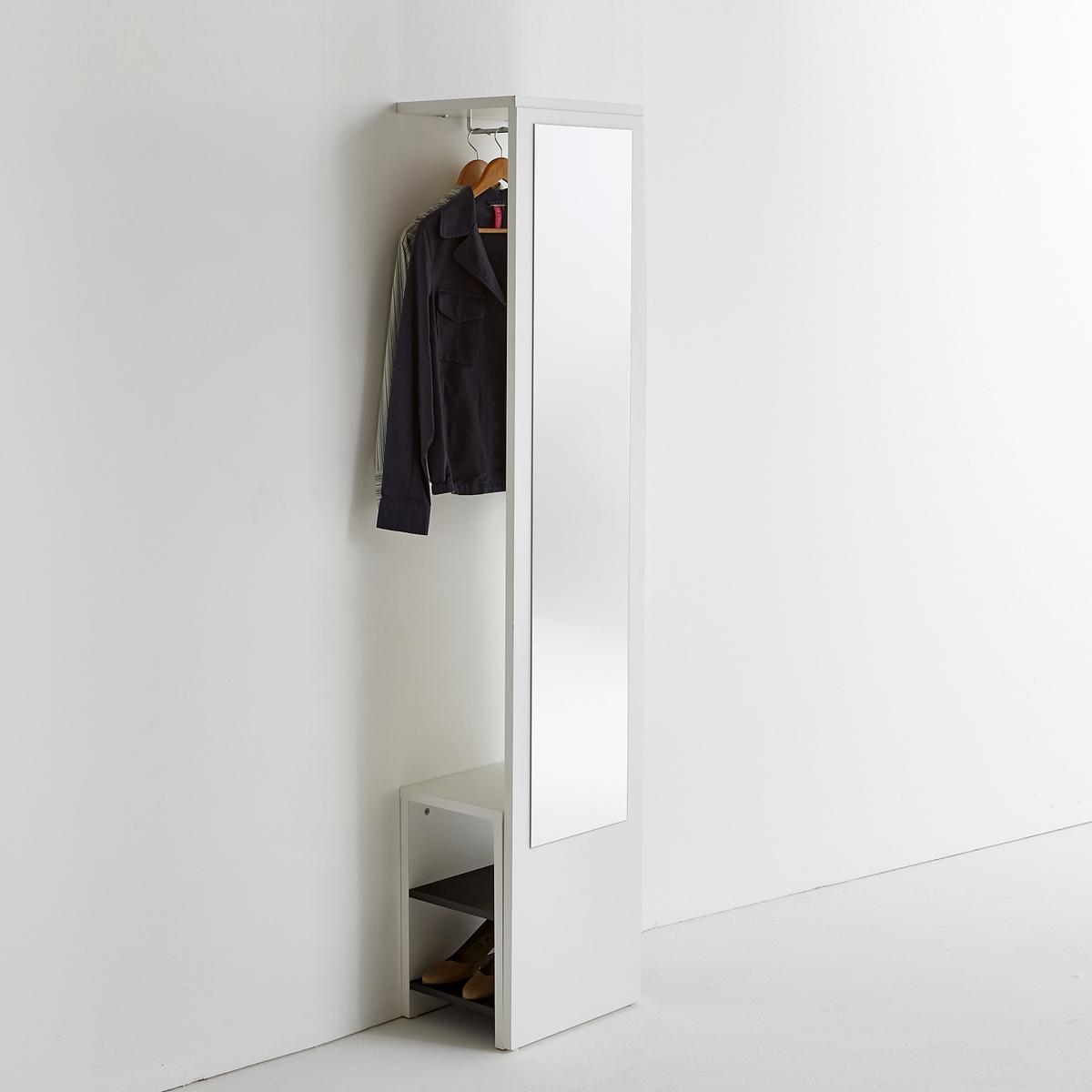 Appendiabiti a muro con specchio e panca, Reynal