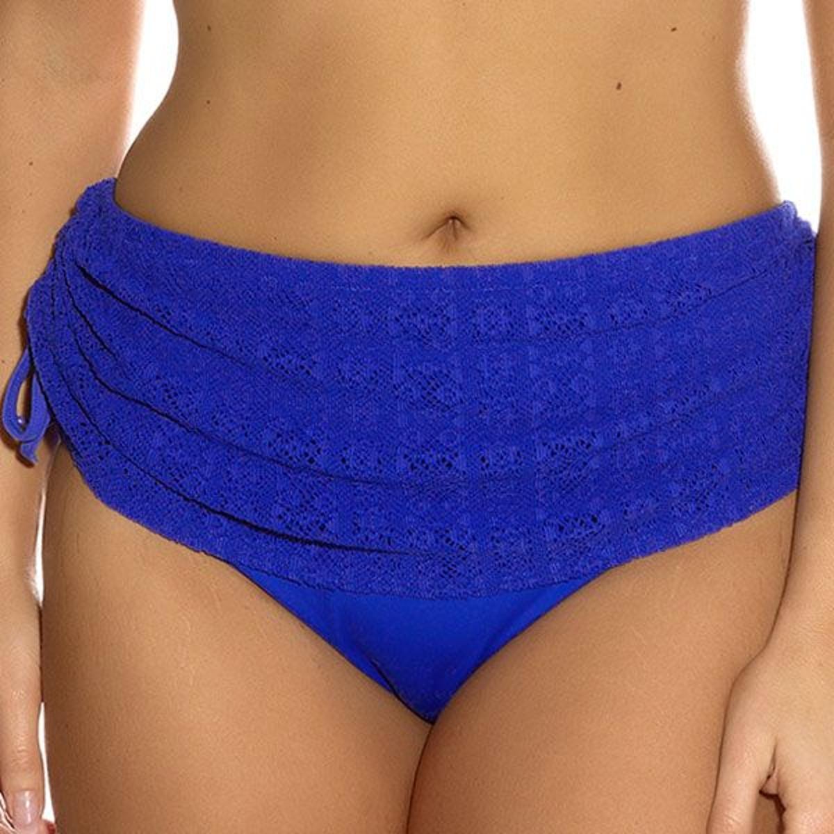 Slip de bain jupette ajustable Elomi KISSIMMEE royal blue XL