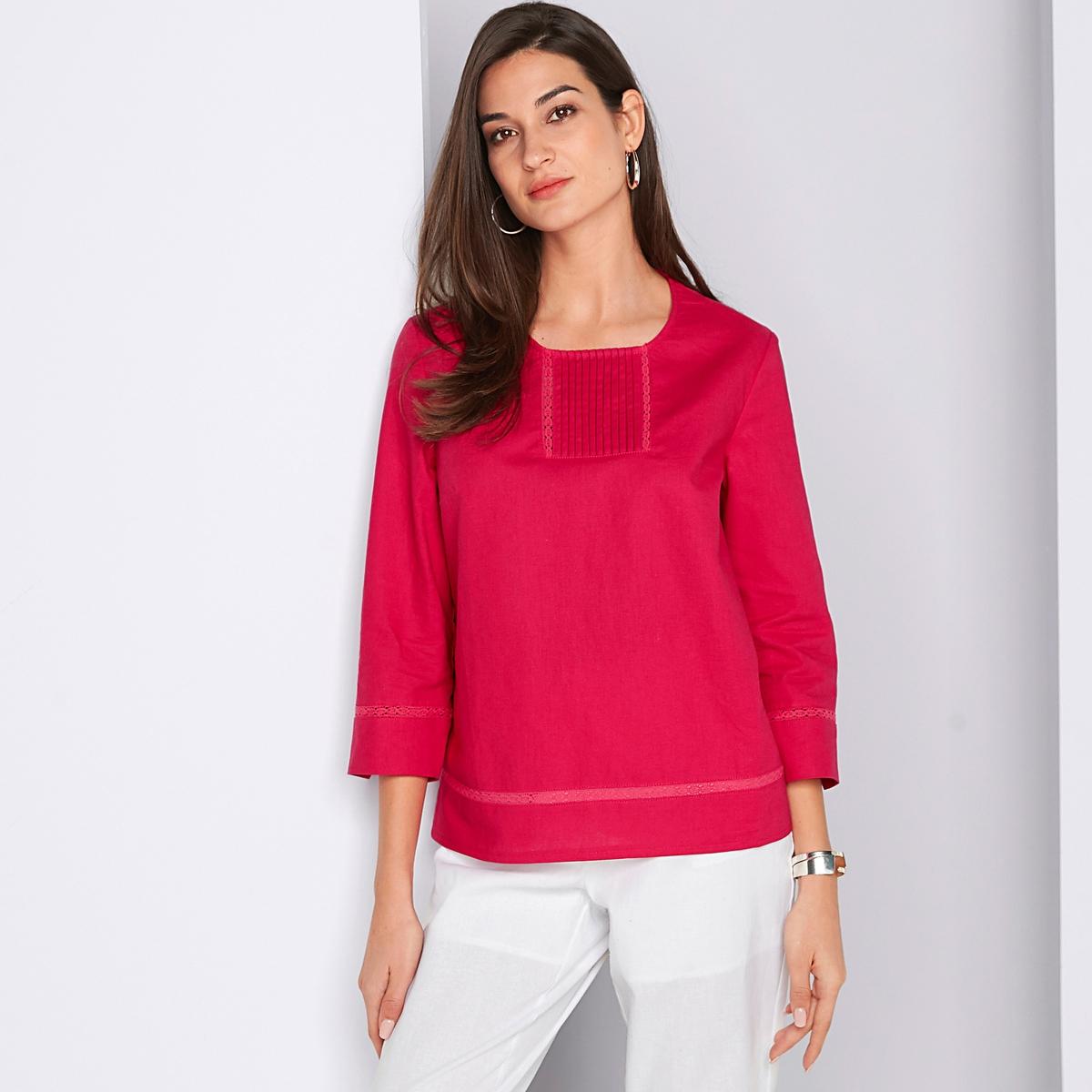 Imagen adicional 2 de producto de Pantalón recto tobillero, de lino y algodón - Anne weyburn