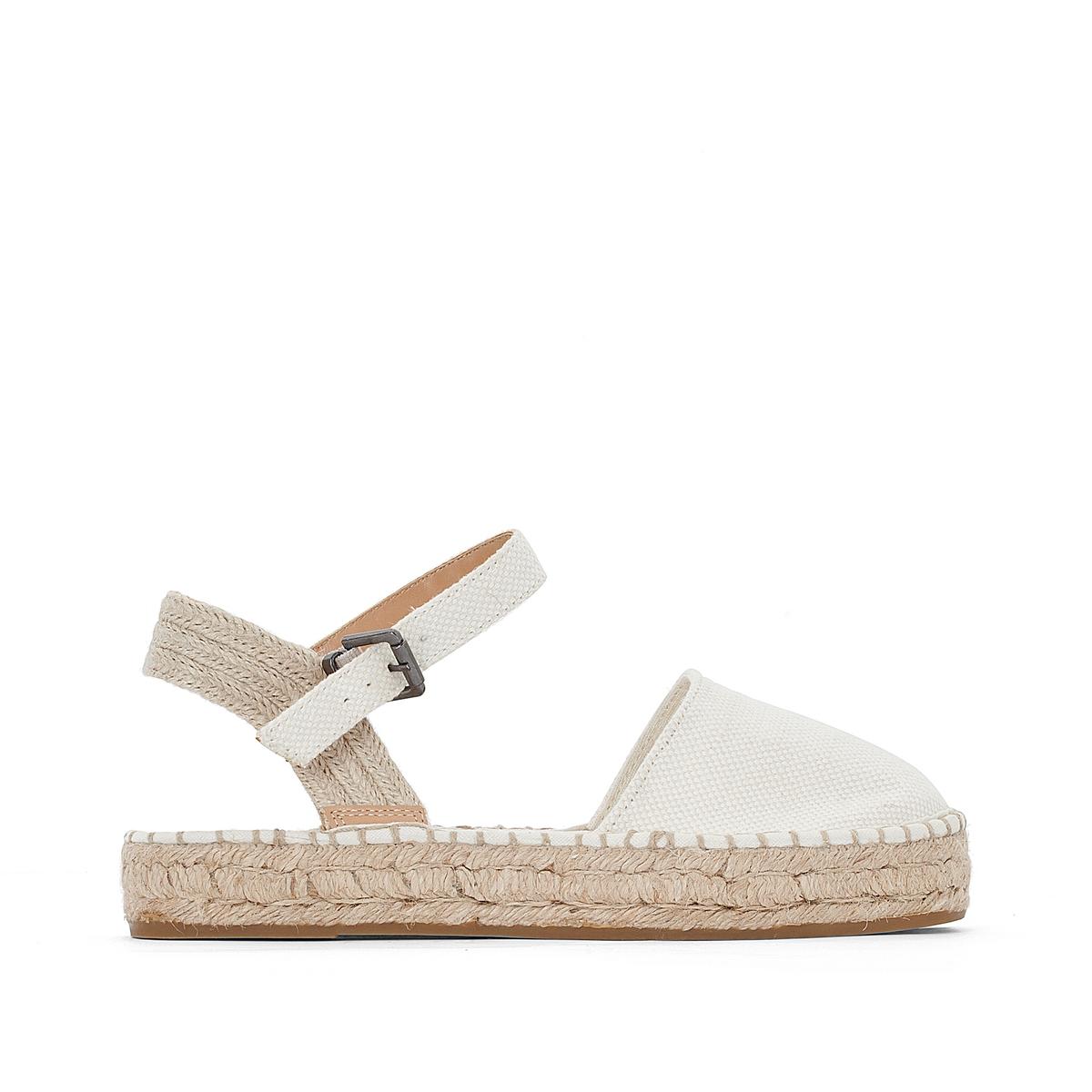 Туфли полотняные OliviaВерх: хлопок.Стелька:Подошва:     Высота каблука: 2 см.Форма каблука: плоский каблук.Мысок: закругленный.Застежка: пряжка.<br><br>Цвет: синий морской,экрю