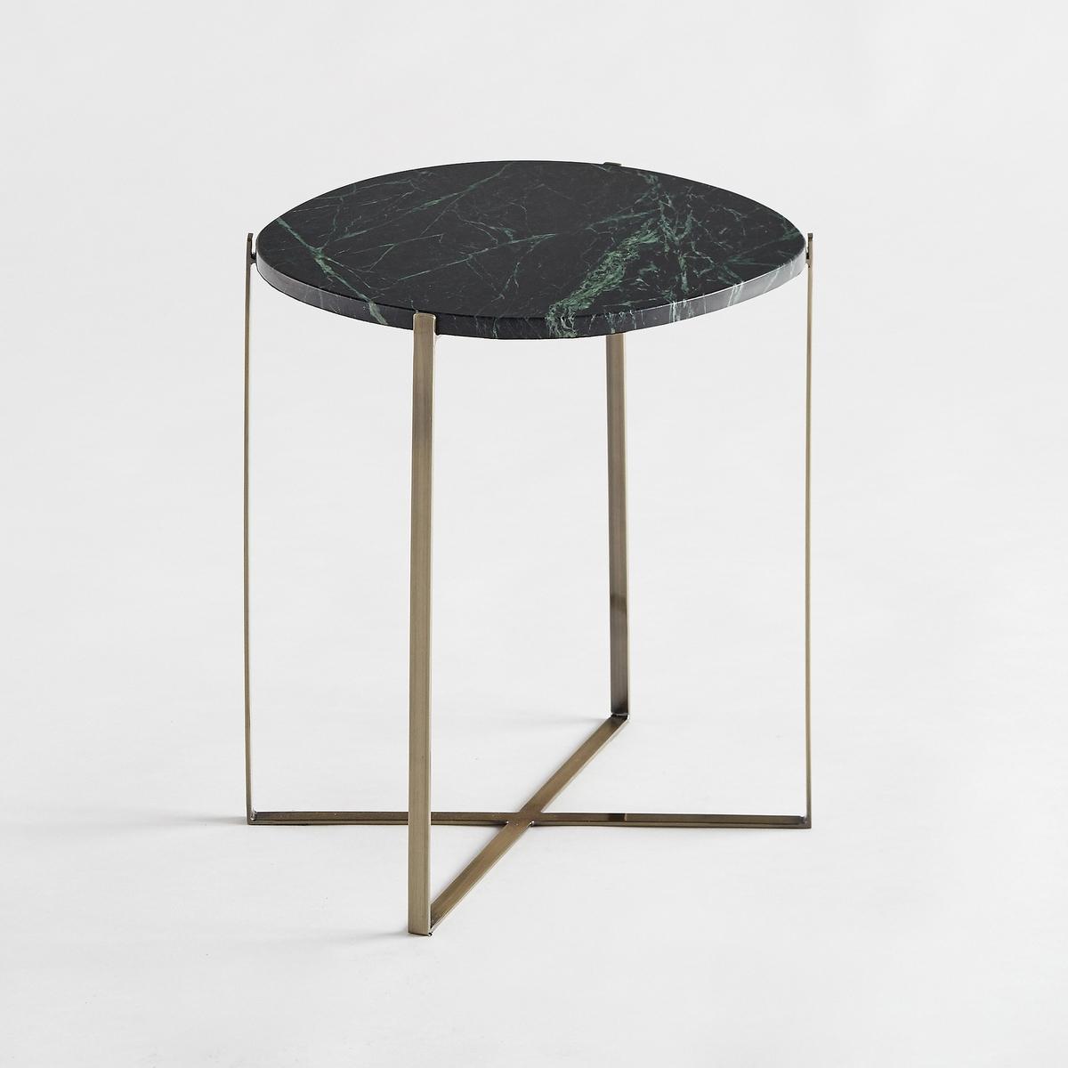 Овальный диванный столик  из зеленого марамора/ металла ArambolХарактеристики : Столешница из зеленого мрамора, толщ. 1,5 см  . Каждое изделие уникально . Прожилки могут  быть более или менее заметны.- Каркас из металла с отделкой из латуни с эффектом старения- Органическая форма- Столик готов к сборке в соответствии с прилагающейся инструкциейРазмеры : - 34,8 x 44 x 35,4 см Размеры и вес упаковки : - 2,5 x 43,2 x 10 см, 4,85 кг и 37,5 x 48 x 28,5 см, 2,19 кг Доставка :Доставка по предварительной договоренности, возможен подъём на этаж !Внимание ! Убедитесь в том, что товар возможно доставить на дом, учитывая его габариты (проходит в двери, по лестницам, в лифты).<br><br>Цвет: зеленый