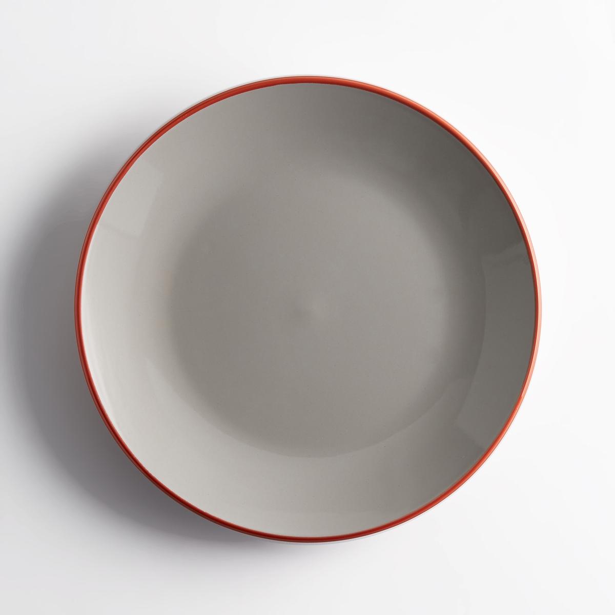 Комплект из 4 мелких тарелок из фаянса DotkaУлучшенный дизайн обеспечивает тарелке Dotka ее функциональность и сочетание с кухней в любом стиле. Характеристики 4 мелких тарелок Dotka :Из фаянса.Кайма контрастного цвета.Размеры 4 мелких тарелок Dotka :диаметр 27,20 см.Цвета :Зеленый.Бледно-розовый.Серый.Другие тарелки и предметы декора стола вы можете найти на сайте laredoute.ru<br><br>Цвет: зеленый,серый,темно-розовый