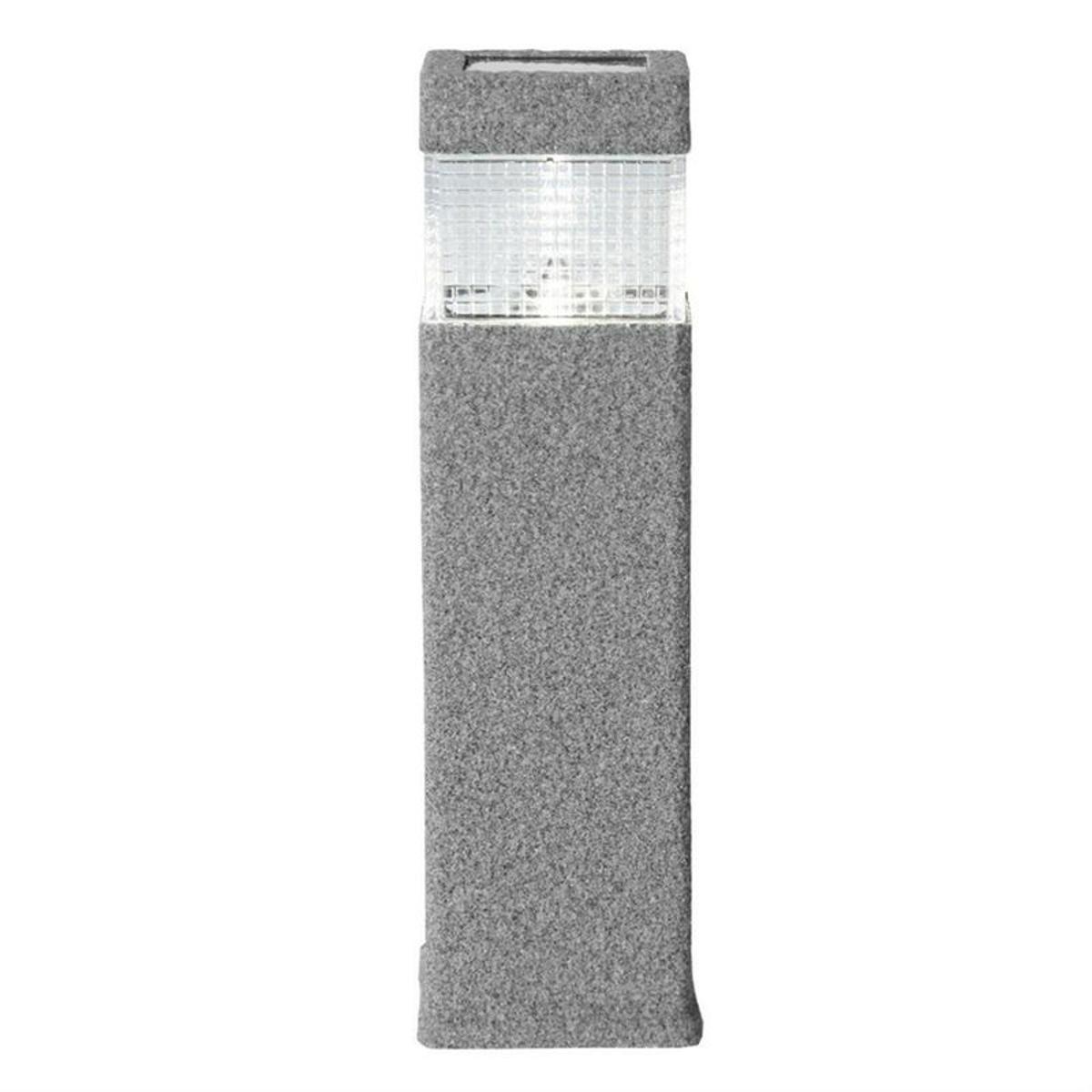 borne solaire malibu 300 lm gris inspire vendu par leroy. Black Bedroom Furniture Sets. Home Design Ideas