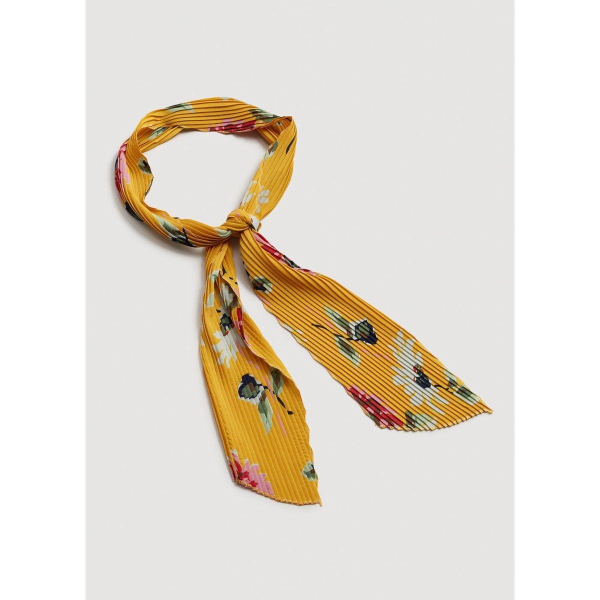 Foulard plissé à fleurs