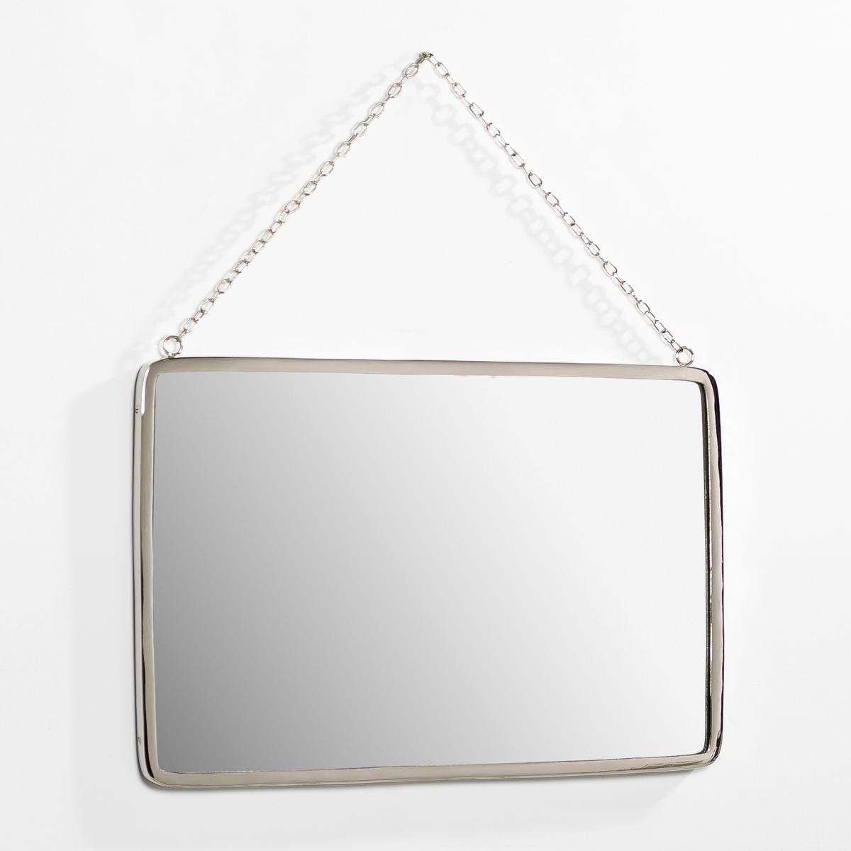 Зеркало прямоугольное . Д50 x В37 см, BarbierЗеркало в старинном стиле. Характеристики: :- Рамка из никелированной латуни .- Цепочка-подвеска из металла с никелевым покрытием   . Размеры  :-Д.50 x В.37 см..<br><br>Цвет: прозрачный