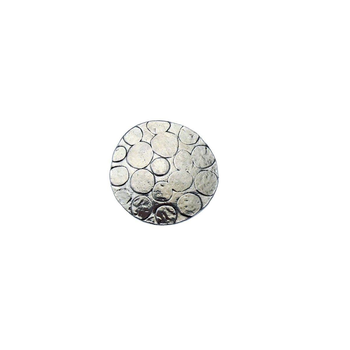 Bague réglable en métal argenté collection LEO
