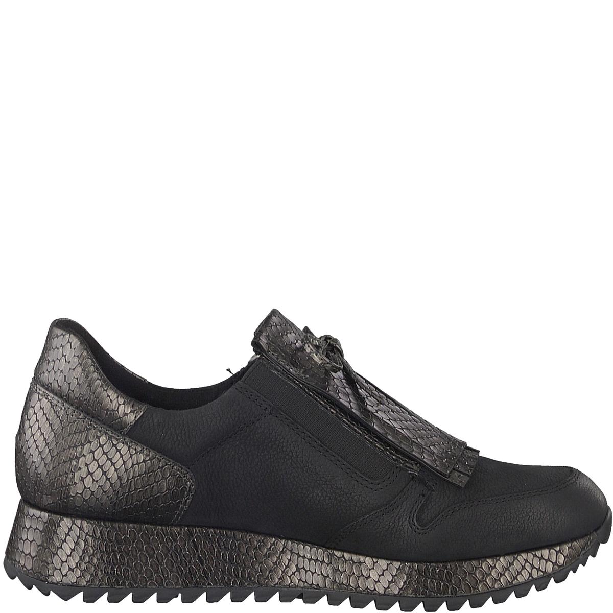 Кеды кожаные DivaДетали •  Спортивный стиль •  Плоский каблук •  Высота каблука : 3,5 см •  Застежка : на молниюСостав и уход • Верх/Голенище 50% кожи, 50% синтетического материала   •  Подкладка 50% синтетического материала, 50% текстиля<br><br>Цвет: черный<br>Размер: 40