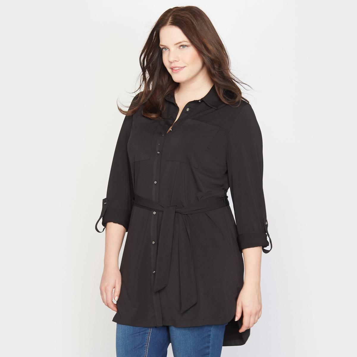 Рубашка-туника трикотажная от La Redoute