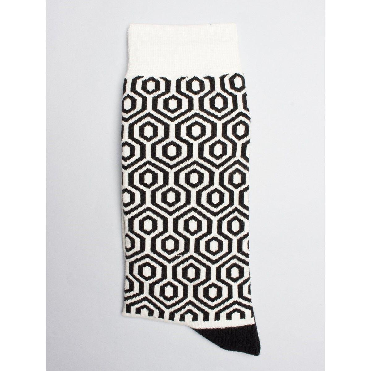 Chaussettes à motif formes géométriques