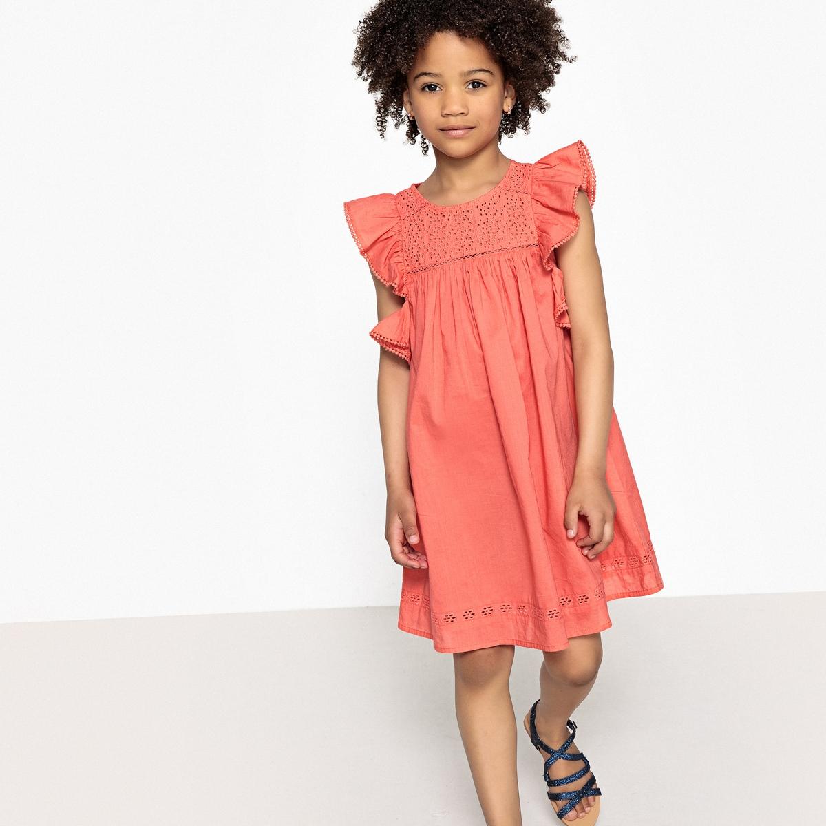 Платье с вышивкой и воланами 3-12 лет футболка с вышивкой и воланами 3 12 лет