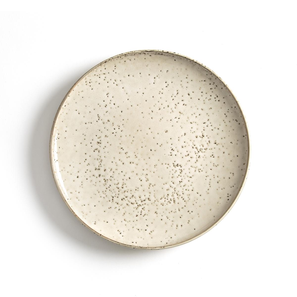 Комплект из 4 мелких тарелок из керамики, Olazhi4 мелкие тарелки Olazhi. Замечательный крапчатый эффект, придающий этим тарелкам ремесленный стиль. Подходят для использования в посудомоечной машине. Размеры : диаметр 27 см.<br><br>Цвет: серо-бежевый