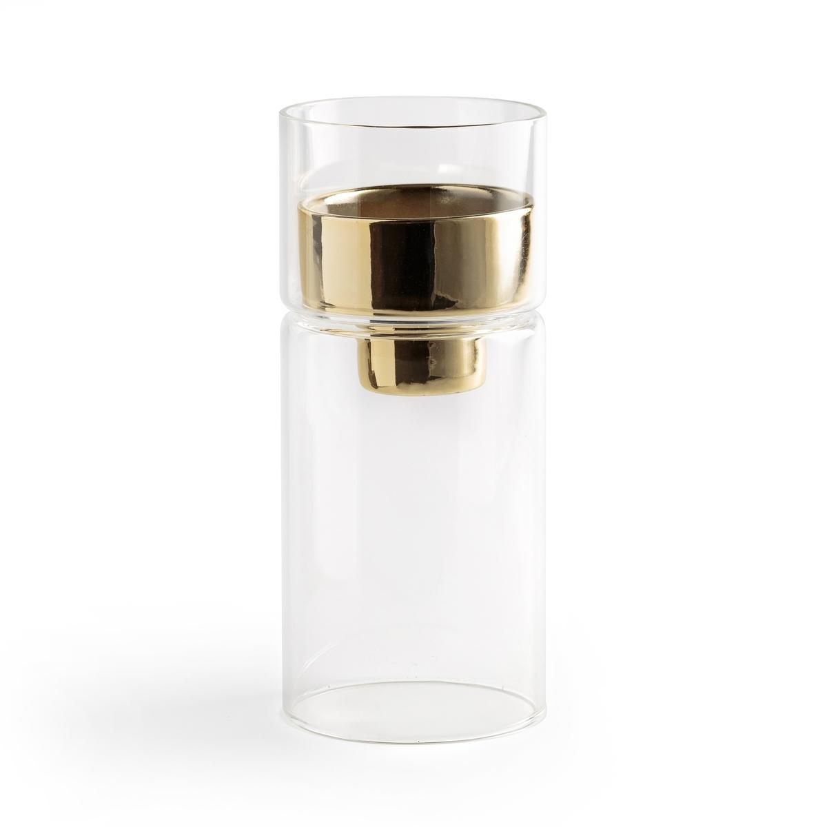 Подсвечник из стекла и латуни FESAME подсвечник из стекла и металла estello